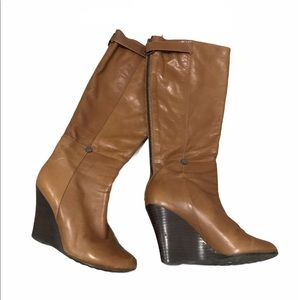 RUDSAK Tall Leather Wedge Boots